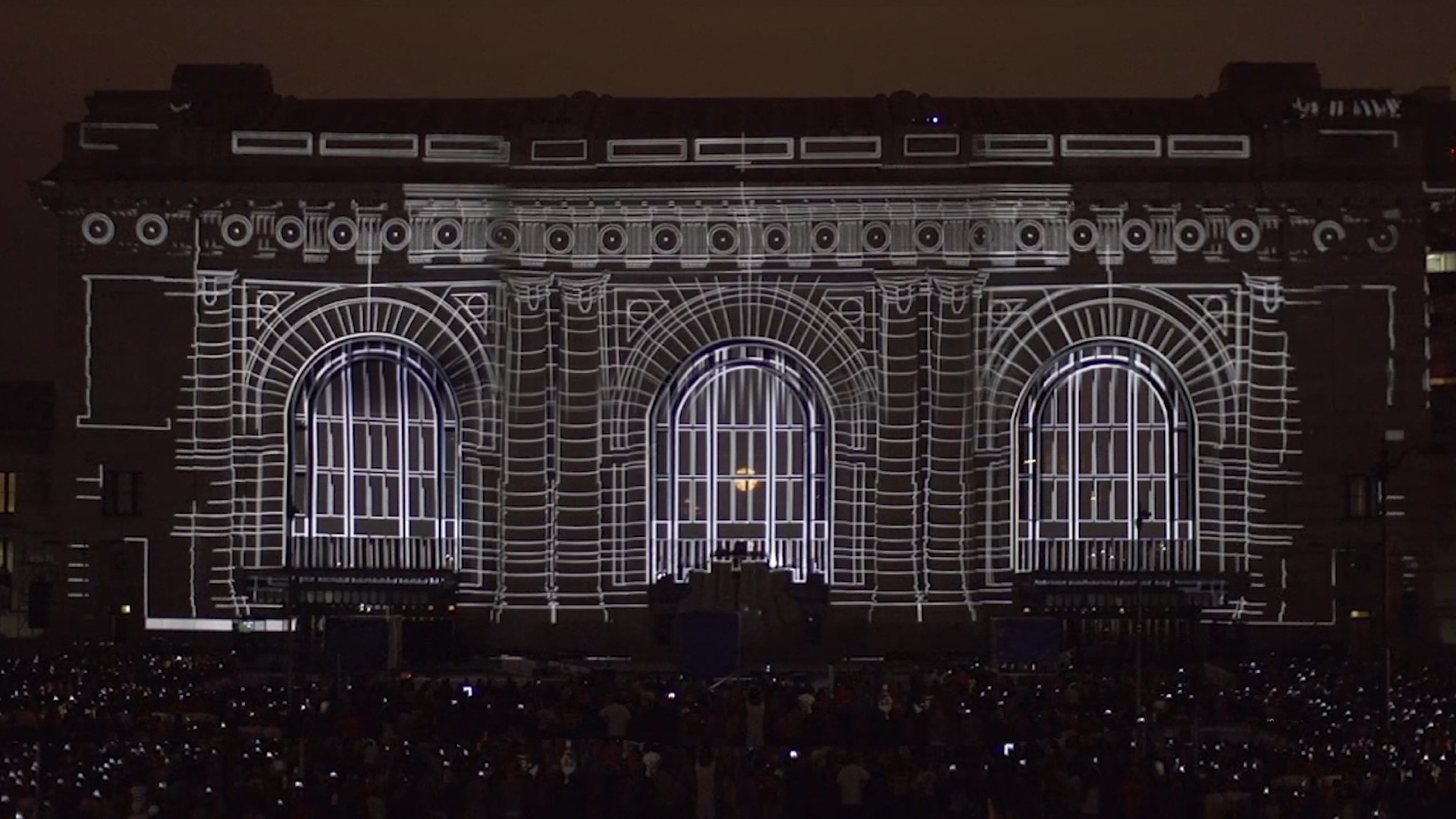 Lynda > Projection Mapping Union Station's History