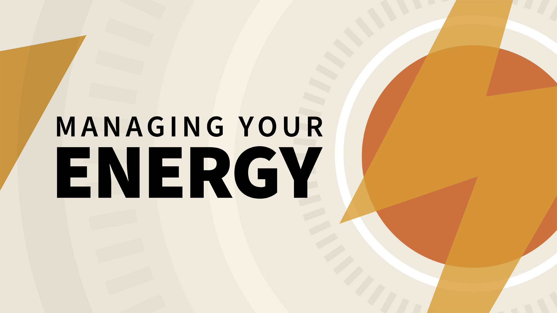 Lynda > Managing Your Energy